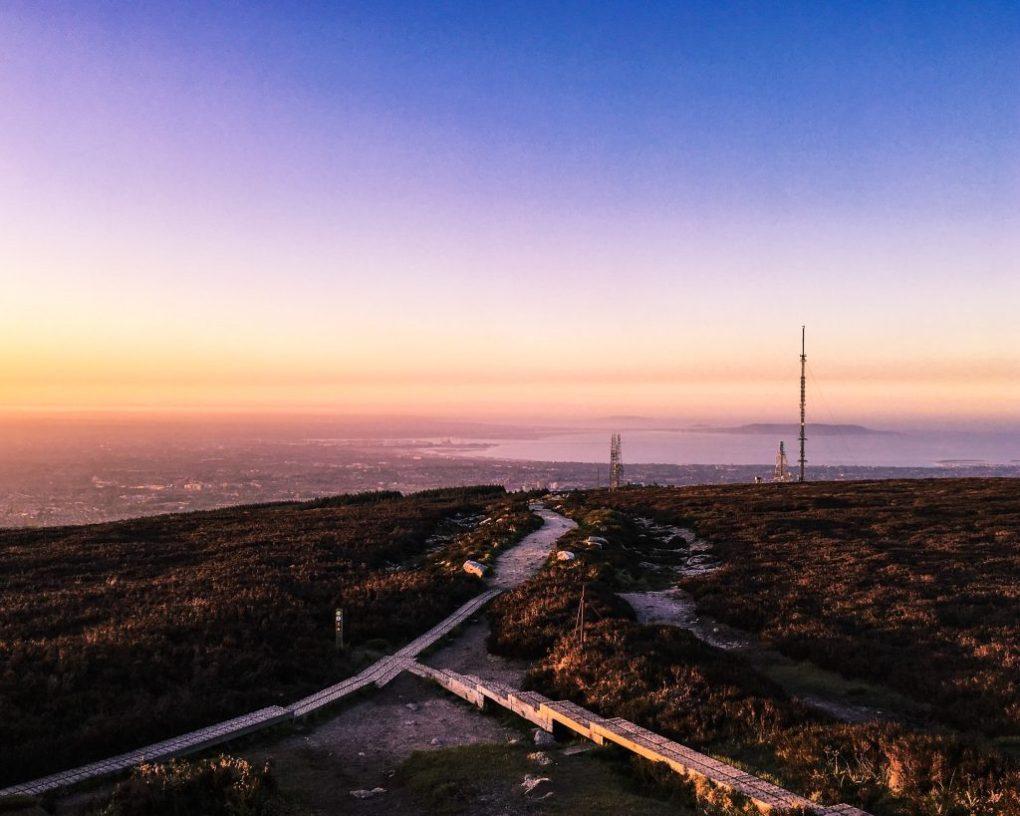 Sunset at Ticknock Dublin, Ireland