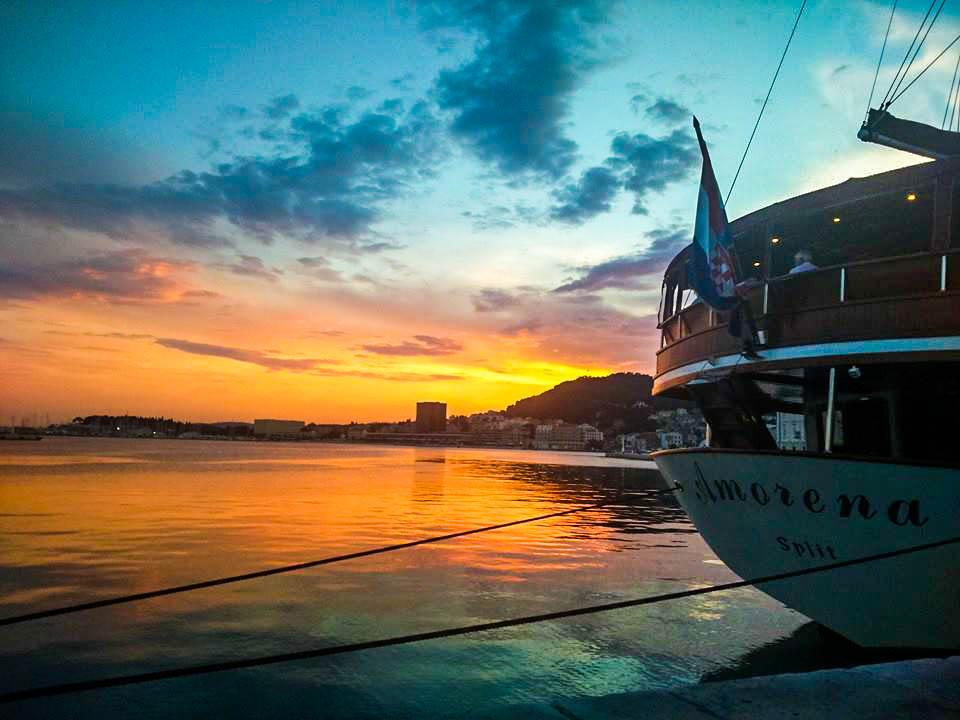 Split Croatia Sunset while interrailiing through Europe