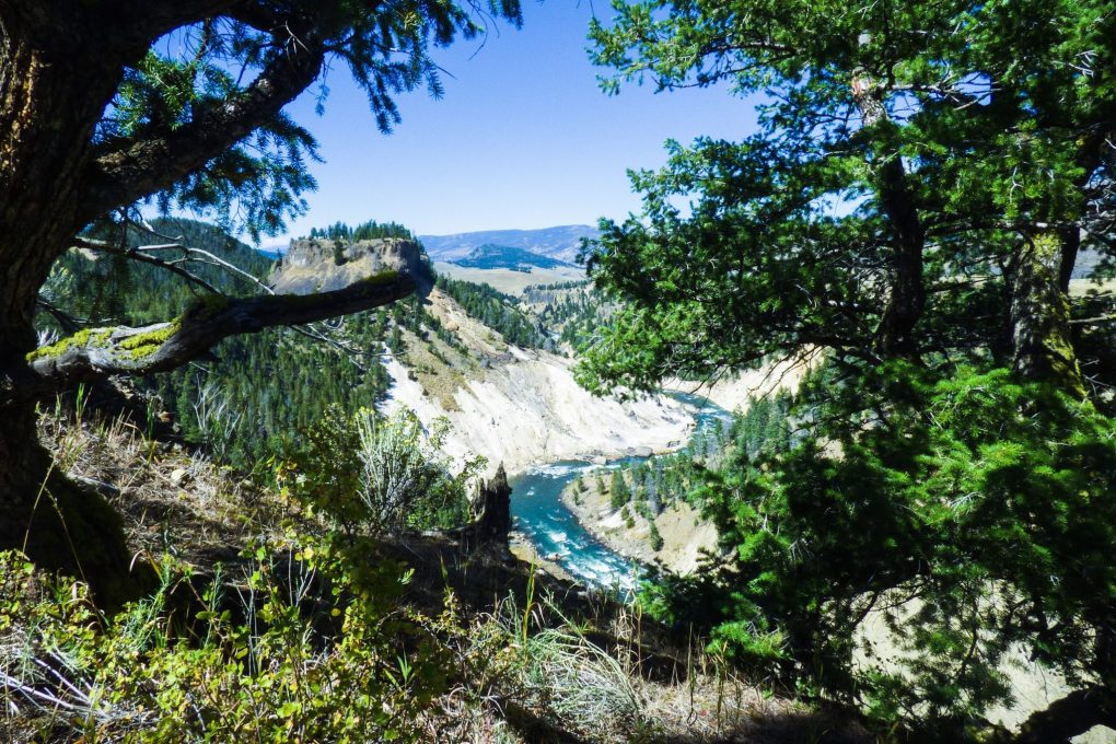 Calcite Springs,  4 days in yellowstone and grand teton