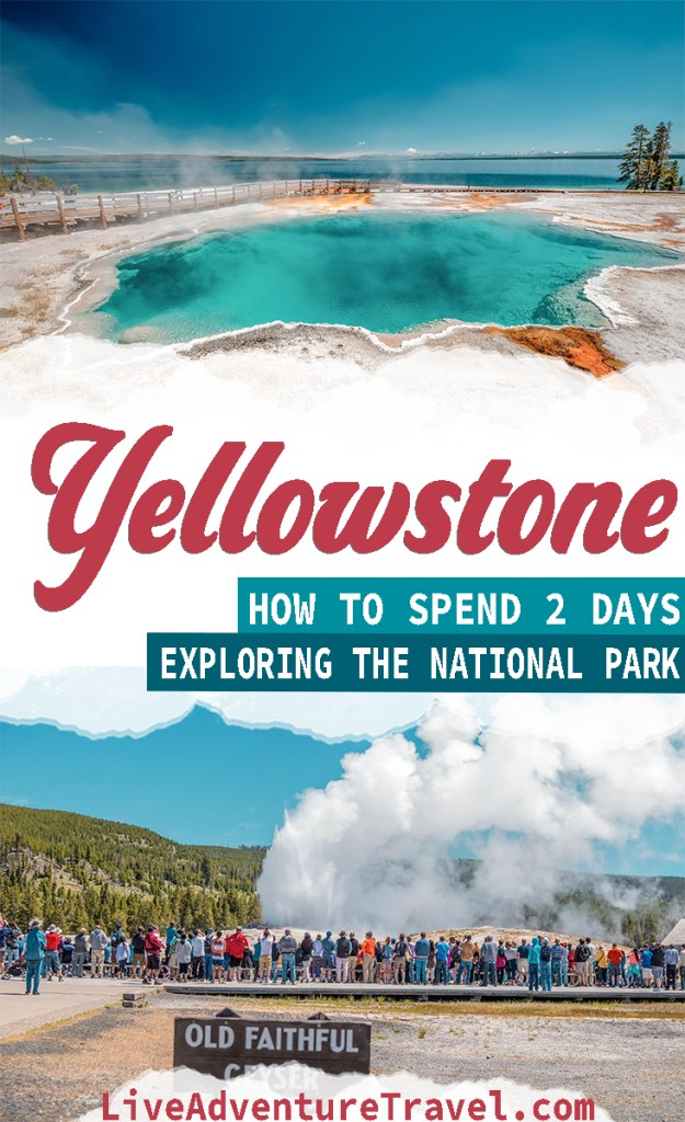 Yellowstone National Park Vacation Pinterest Graphic