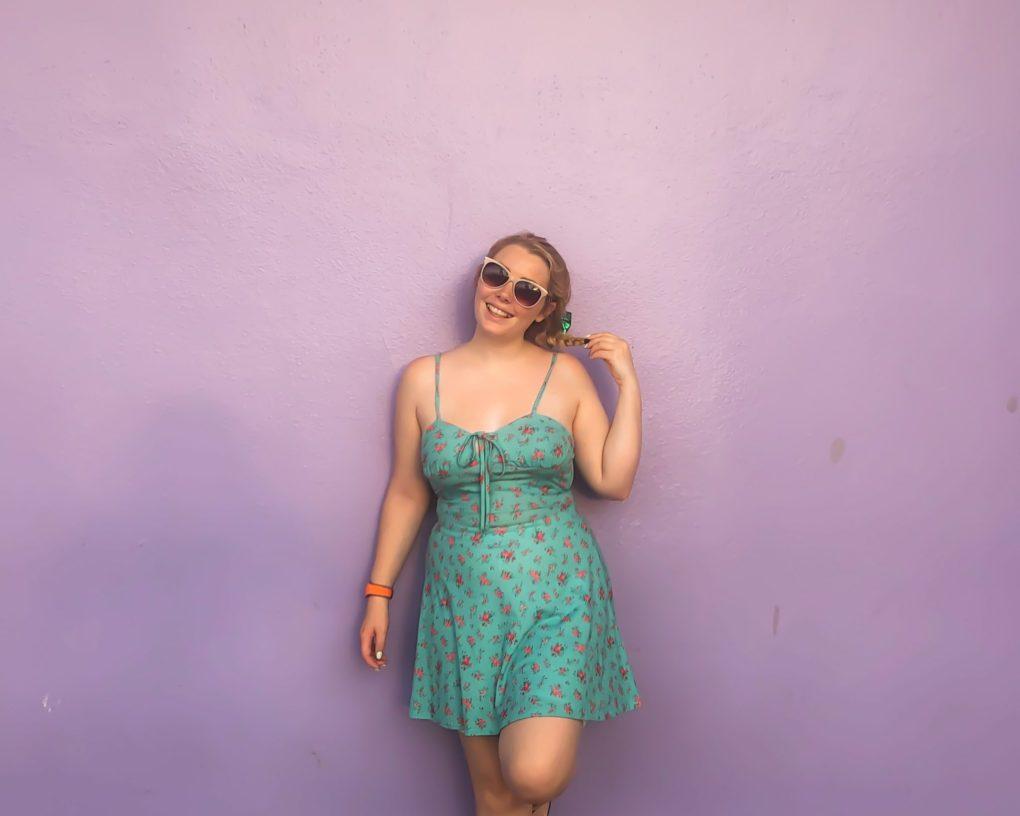 Disney Instagram Walls The Purple Wall, Magic Kingdom