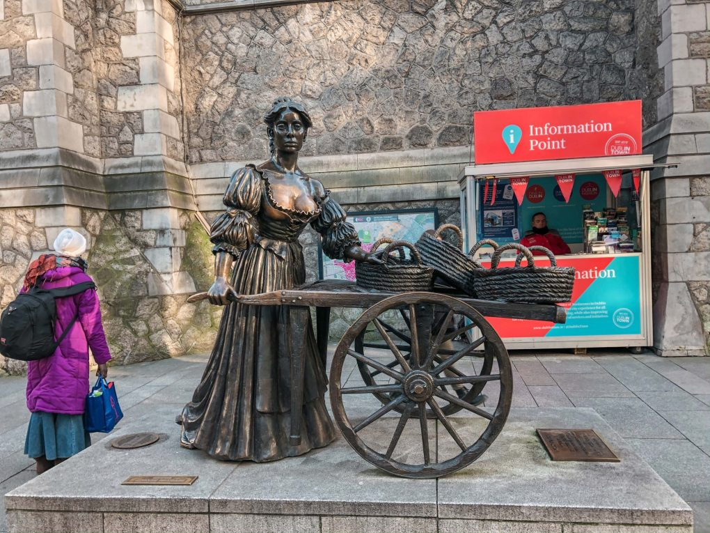 2 Days in Dublin the Molly Malone Statue