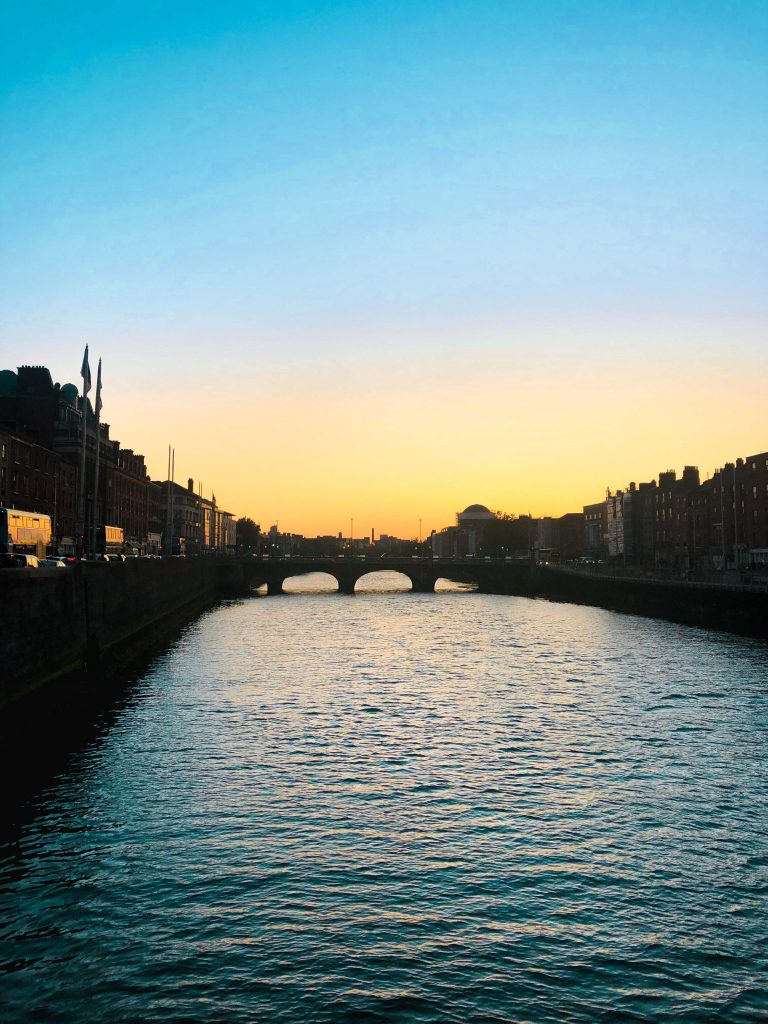 Sunset on the Ha'Penny Bridge