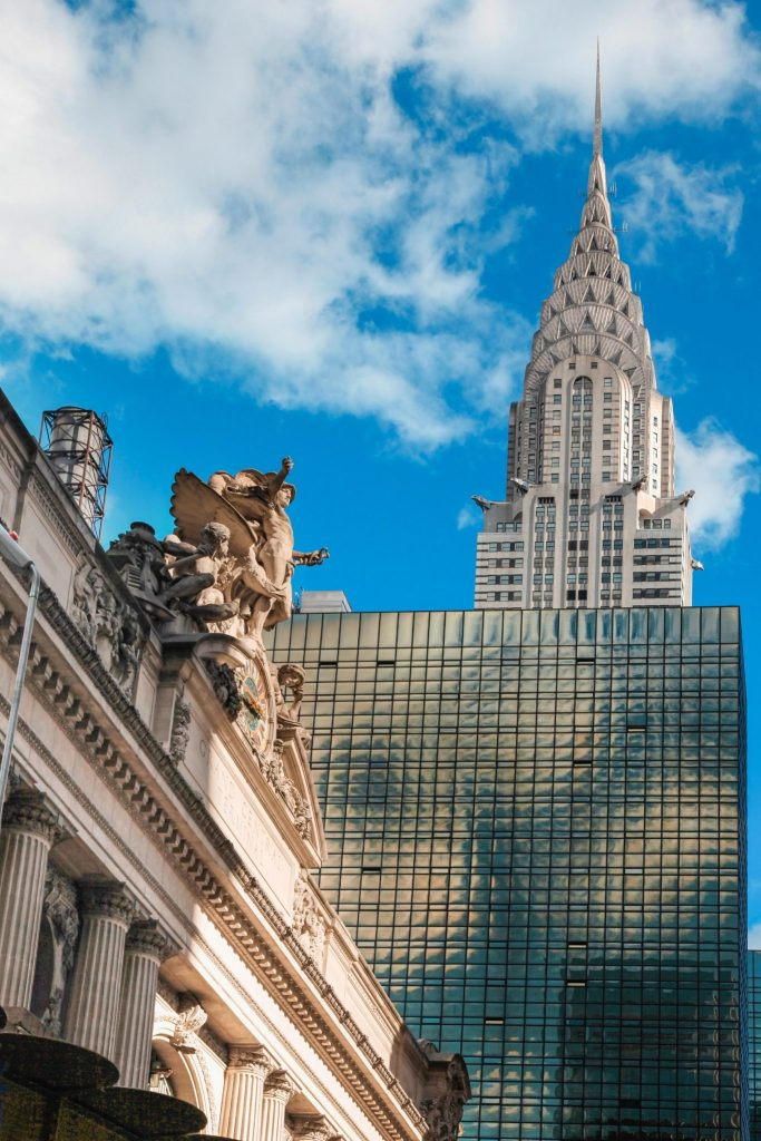 The View of the Chrysler Building from Grand Central Station in New York