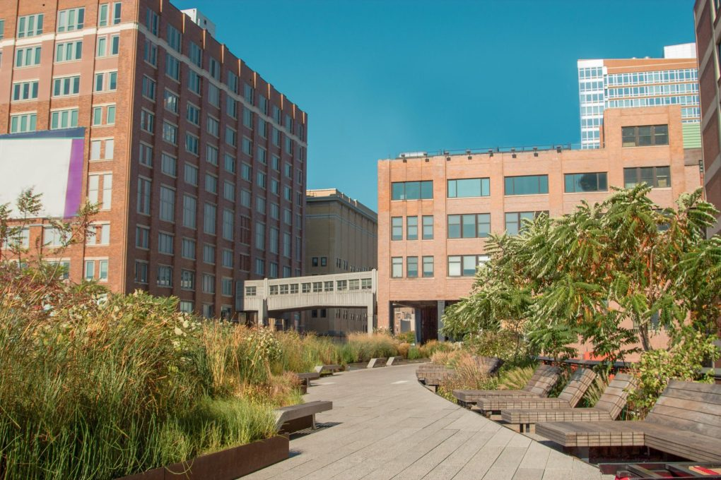 High Line Park in Chelsea, New York City, USA