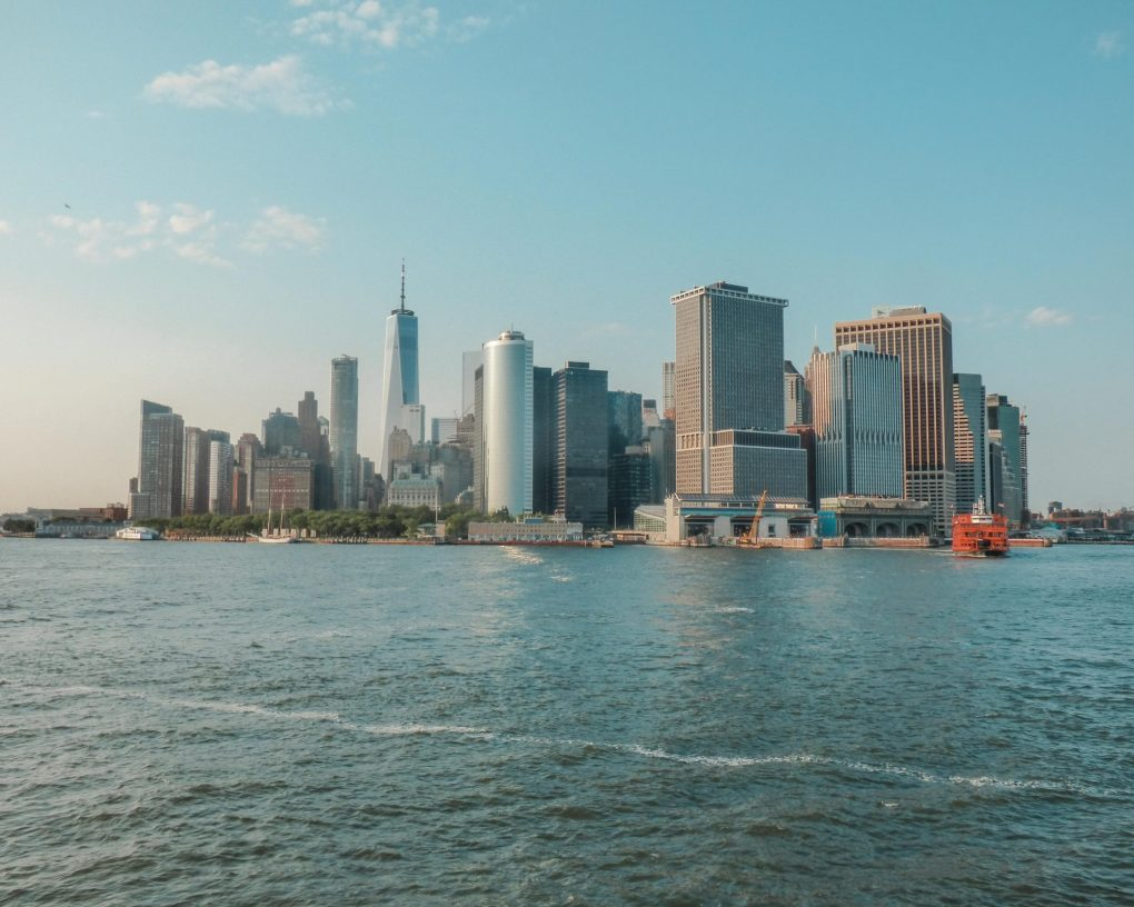 View from the The Staten Island Ferry, New York, USA