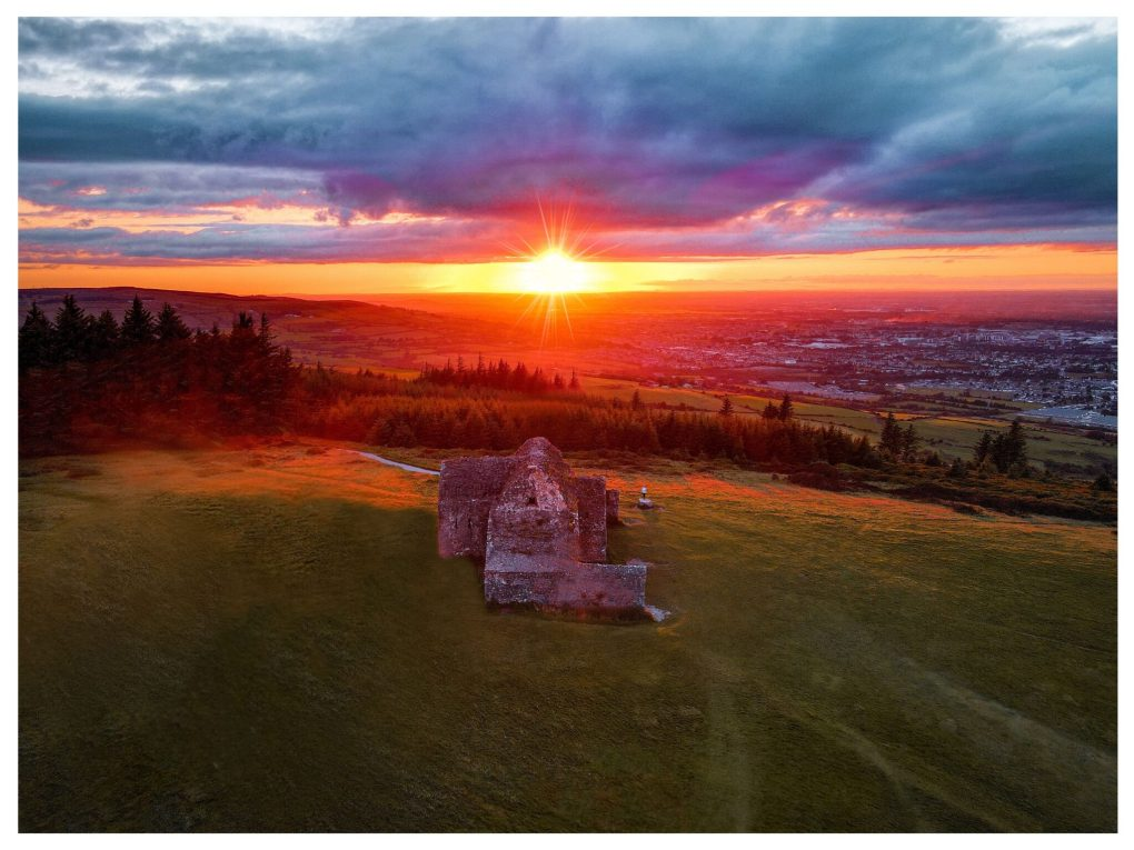 Sunset at the Hellfire Club Dublin