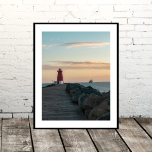 Dublin Prints: Sunrise at Poolbeg Lighthouse (Ireland)