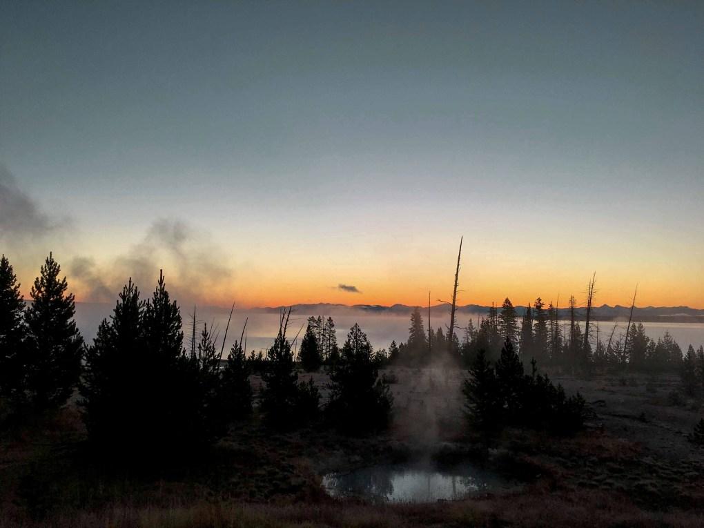 Sunrise, The West Thumb, Yellowstone National Park