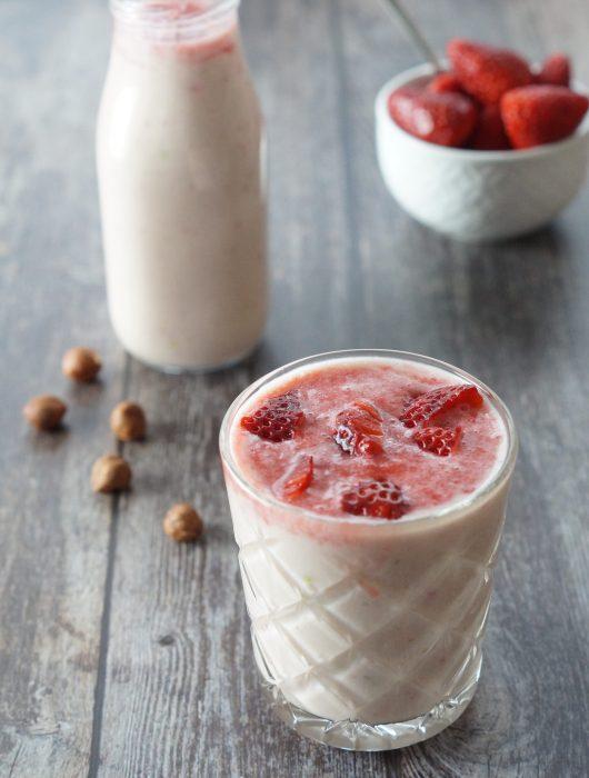 Veganer Erdbeer Smoothie
