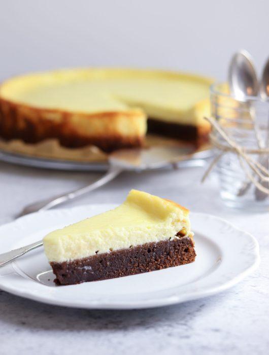 Cheesecake mit Brownieboden