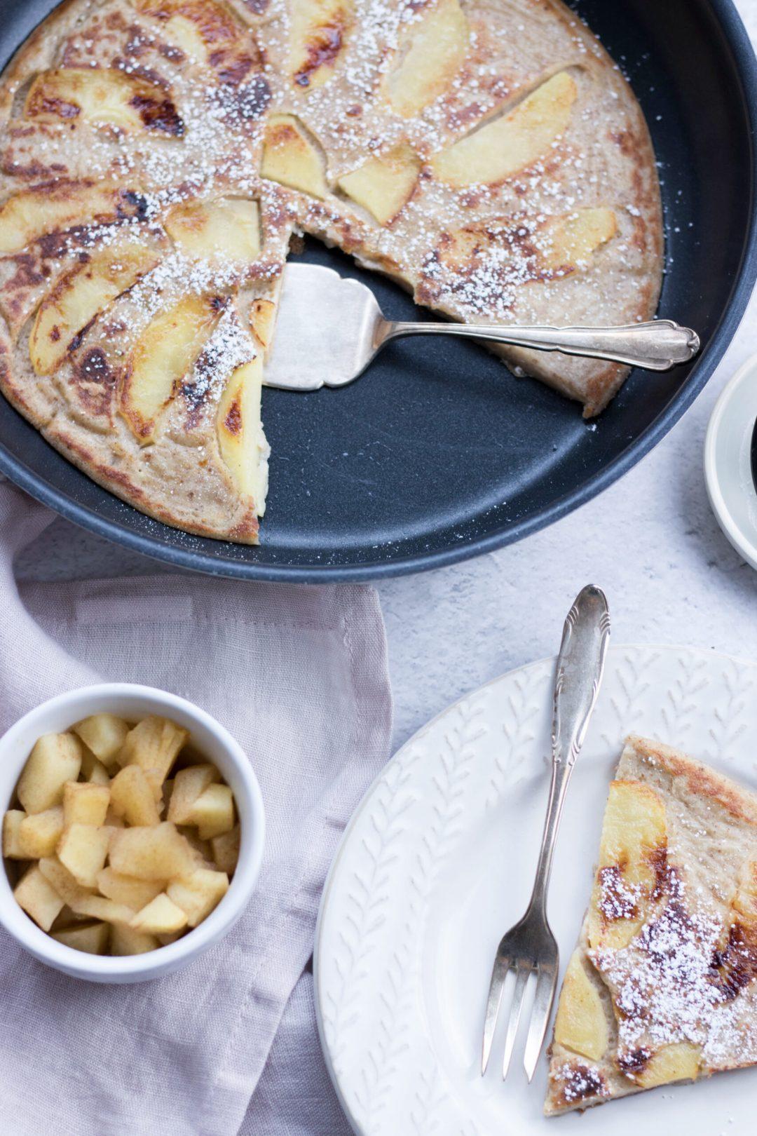 Gesunder Apfelpfannkuchen - schnell und einfach