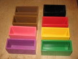 Task command boxes (note black is different, older and more chipped and I'm missing a red one). $50 plus shipping