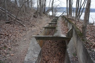 Rifle trench along the River Trail