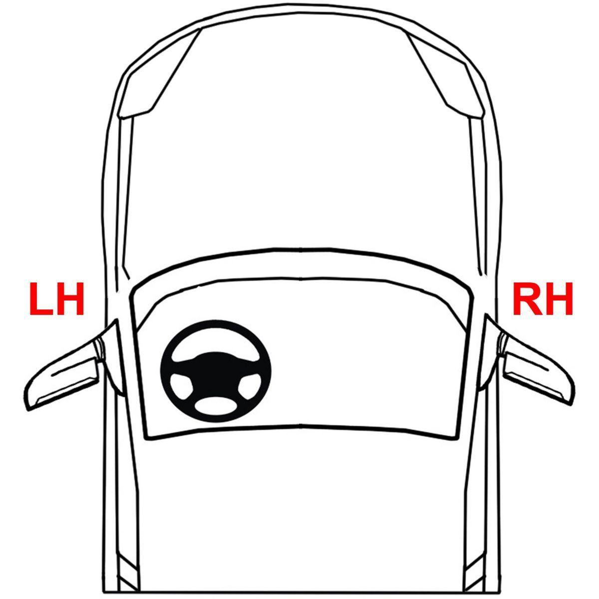 New Rear Passenger Side Exterior Door Handle For Dodge