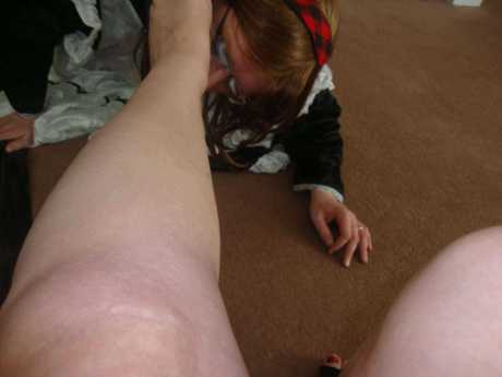 licking the soles, sole foot worship