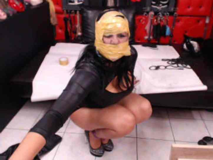 female domination, fetish cams, wrapped in duct tape, mummified cams