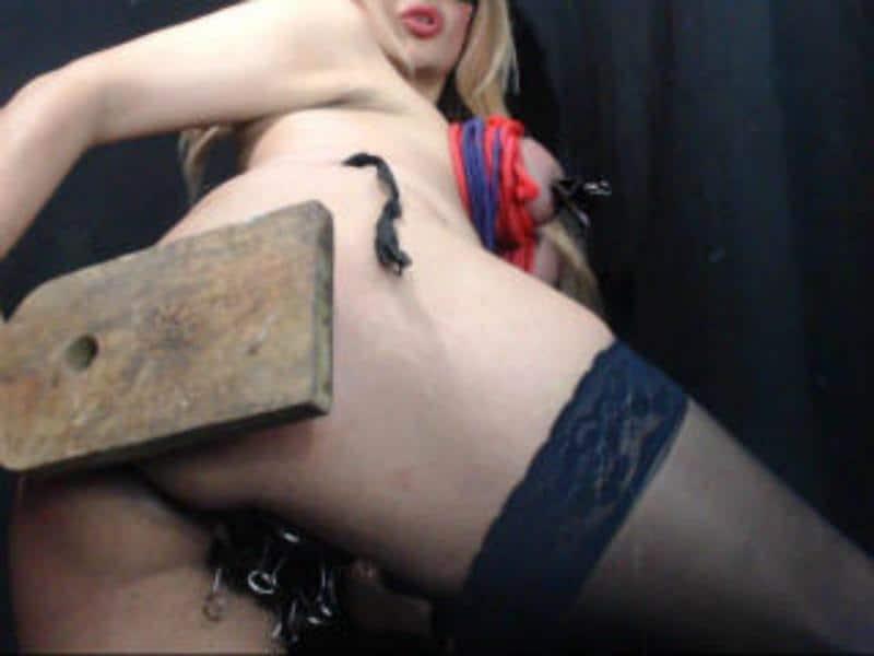 girl spanks herself