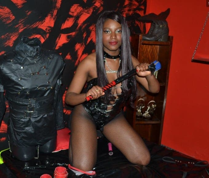 black dominatrix