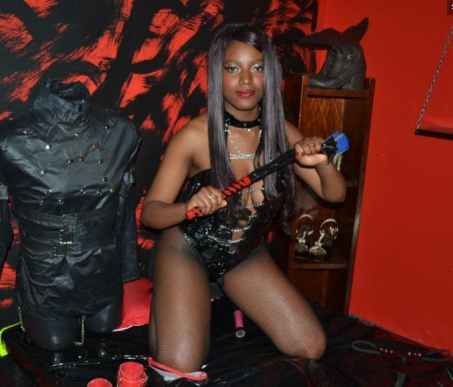 black dominatrix