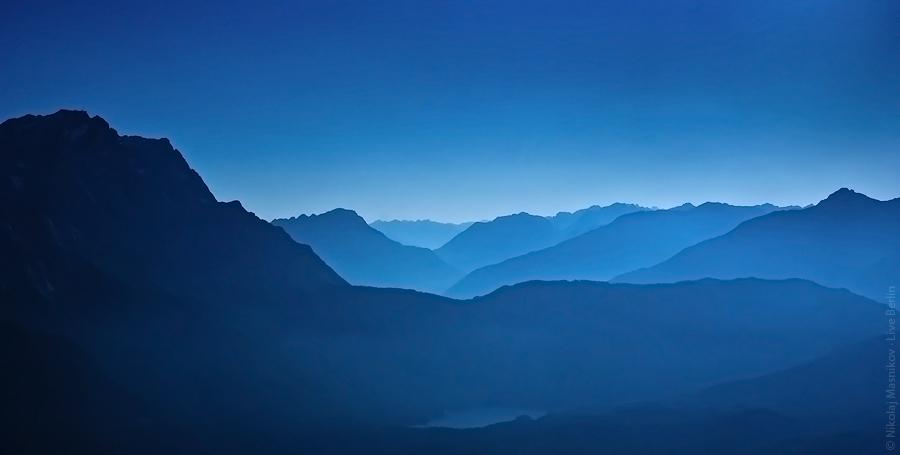 Вечер в немецких альпах