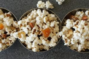 LiveBest Popcorn   I like this recipe because each bite is delicious, healthy & different! Almonds, walnuts, coconut, dried apricots, raisins and cayenne. Let's get to popping! Real food naturally. www.LiveBest.info
