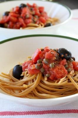 2 bowls of Pasta Puttanesca