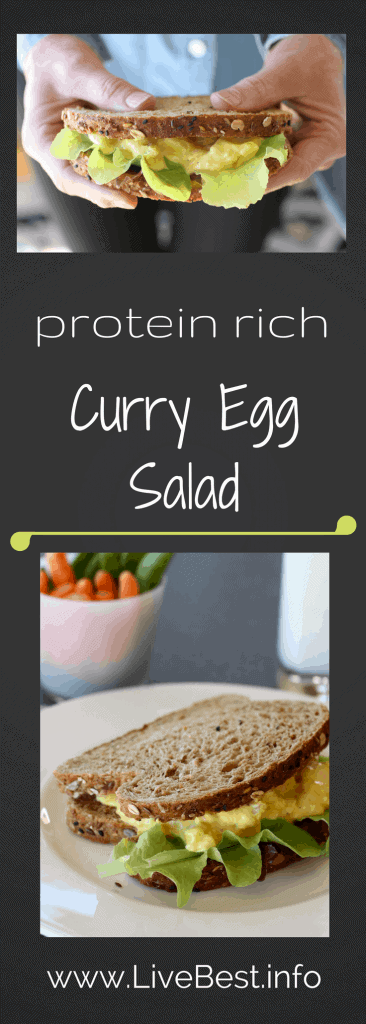 Curry Egg Salad | Curry Egg Salad Recipe | Plain Greek yogurt'stangy flavor, protein and calcium make this a healthy winner, while lowering the calories! That's what I look for in a recipe that helps me LiveBest! www.LiveBest.info www.LiveBest.info