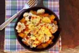 Cauliflower Squash Breakfast Skillet |www.LiveBest.info