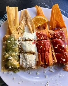 4 tamales on a plate