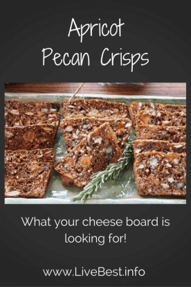 Apricot Pecan Crisps | PERFECT snack attack solution. Even better on a cheese tray! Real food deliciously. www.LiveBest.info