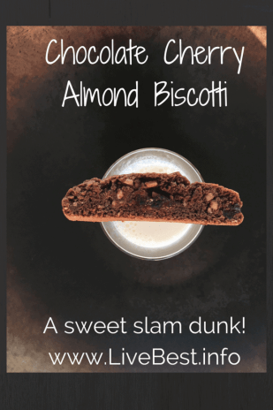 Chocolate Cherry Almond Biscotti | A slam dunk in milk, wine, or tea. LOVE this cookie ;-)