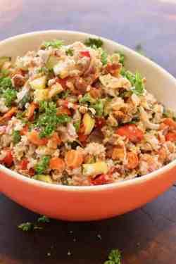 Roasted Vegetable Bulgur Salad bowl