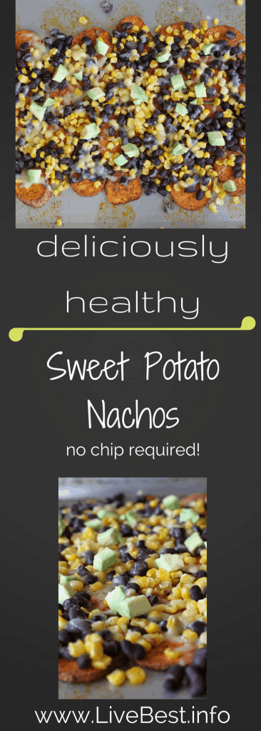 Sweet Potato Nachos I Sweet potatoes are the base for your next nacho night. Fun, flavorful and healthy. No chips required! Suh-weet!! www.LiveBest.info