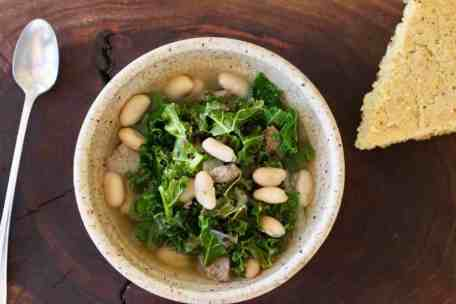 Kale Turkey Bean Soup | This hearty soup is easy to make and quick to fix comfort food. Full of fiber and flavor. www.LiveBest.info