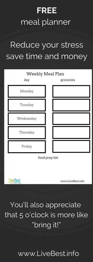 Meal planner image to download and print