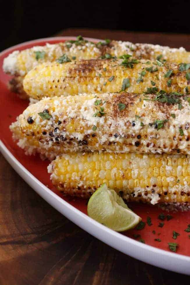 Grilled Mexican Street Corn photo and recipe by Judy Barbe, www.LiveBest.info