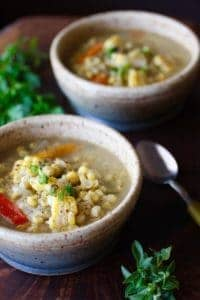 Corn Jalapeno Soup is a great make ahead meal