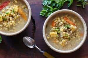 Corn Jalapeno Soup bowls