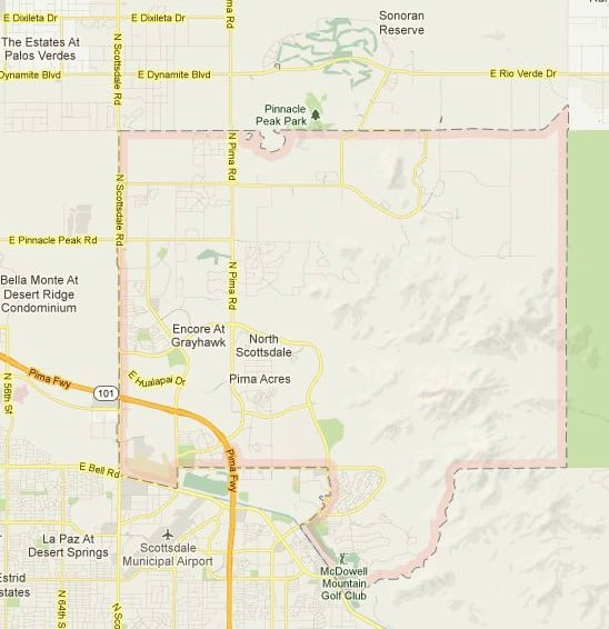 About Scottsdale Zip Code 85255 - Map, Real Estate Reports and Homes ...