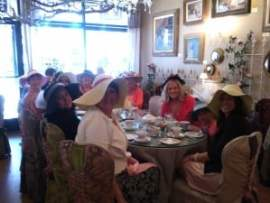 Ladies at English Rose Tea Room Carefree AZ