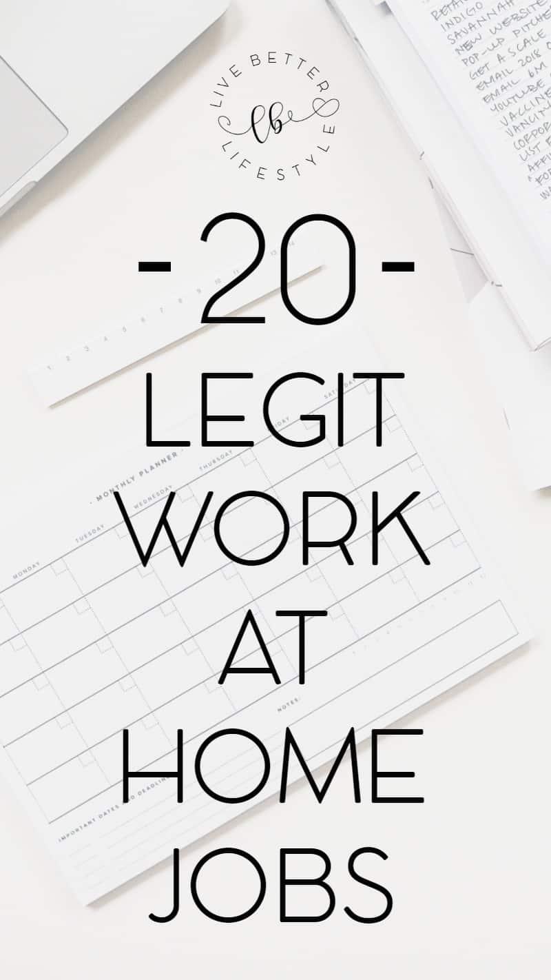 legit work at home jobs make money online