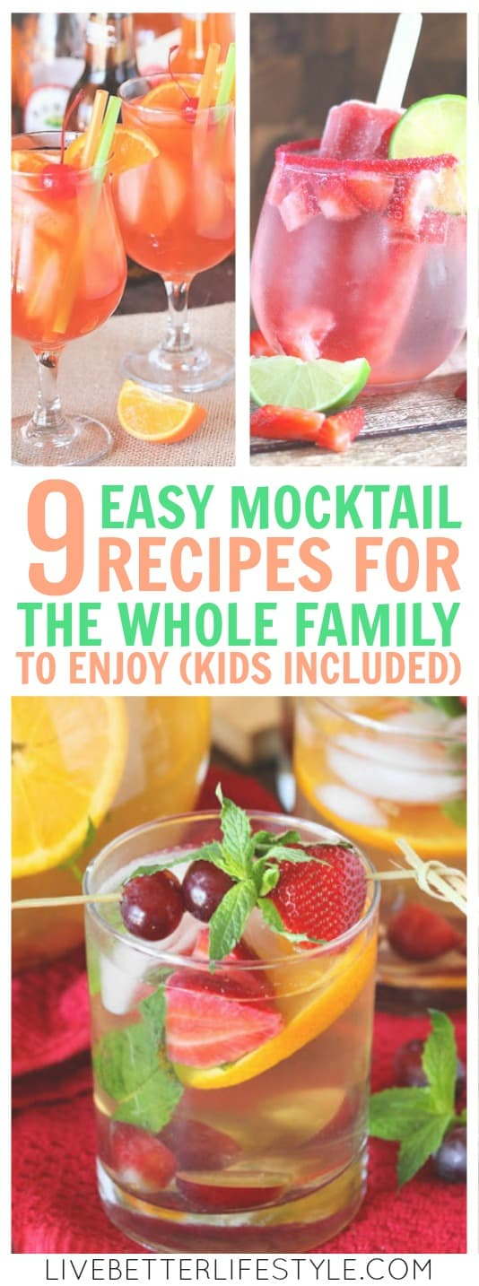 easy mocktail recipes for the whole family