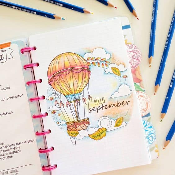 Bullet Journal Cover Layouts For a Whole Year