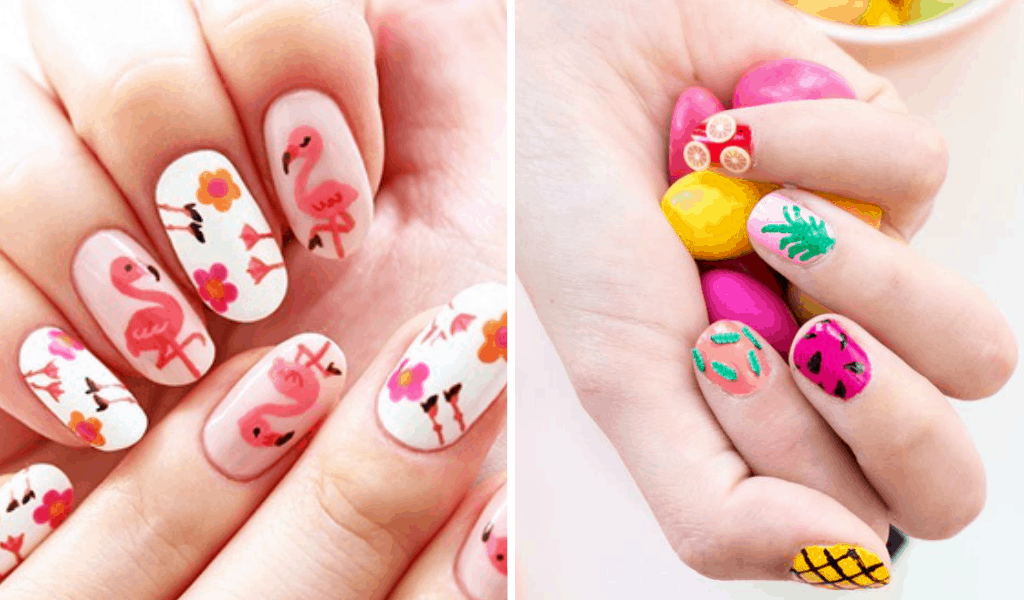 It is an image of Printable Nail Designs for printout
