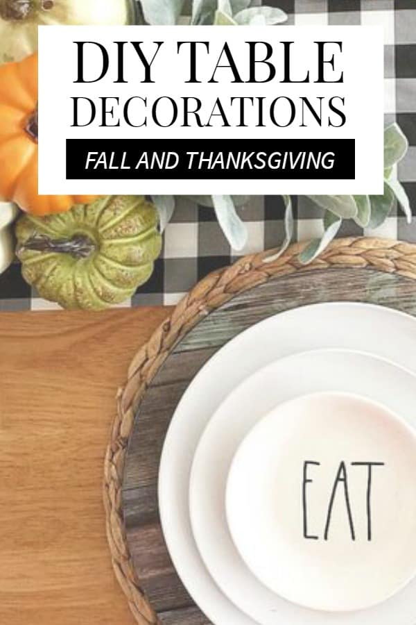 DIY Fall Table Decorations