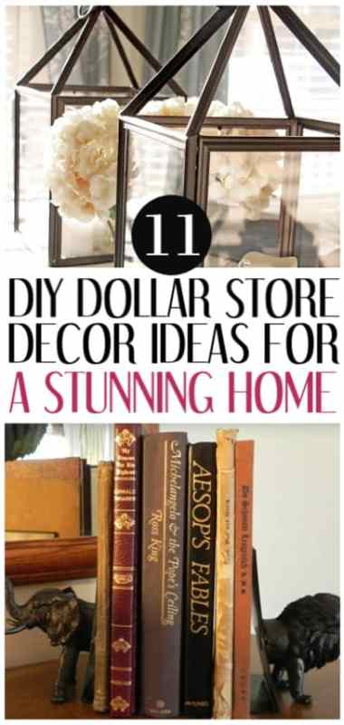 cheap decor ideas from dollar store