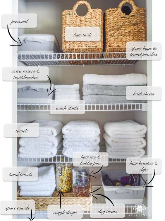 organizing bathroom
