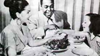 Kim Parker as a child with her parents Charlie & Chan Parker