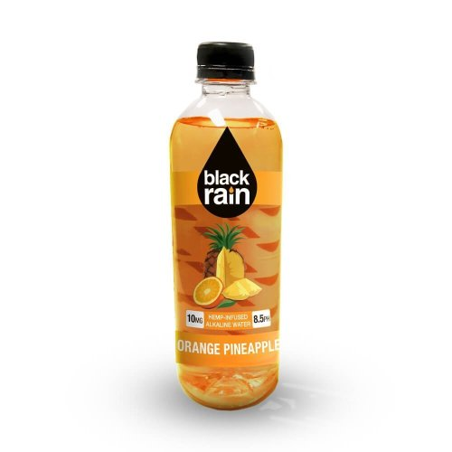 Black Rain Hemp Infused Alkaline Water Orange-Pineapple